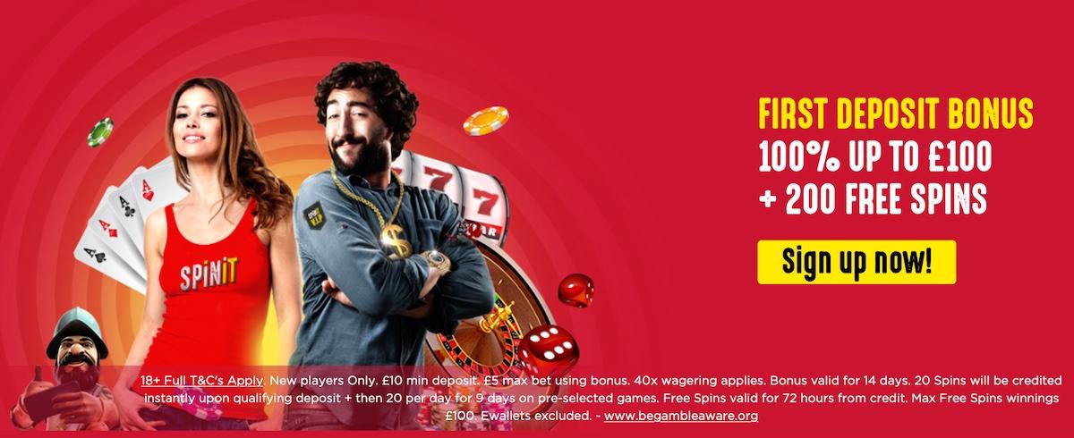 Spinit Casino UK Bonus