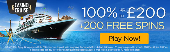 Casino Cruise New UK Welcome Bonus