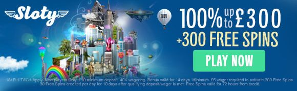 Sloty Casino UK New Player Bonus