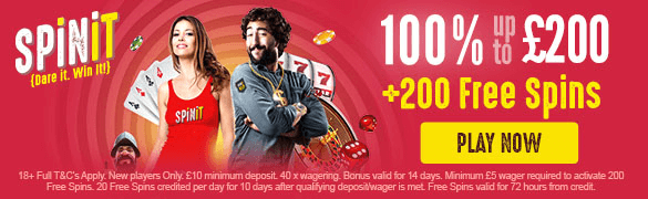 Spinit Casino New UK Bonus
