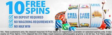 BGO 10 Free Spins Bonus