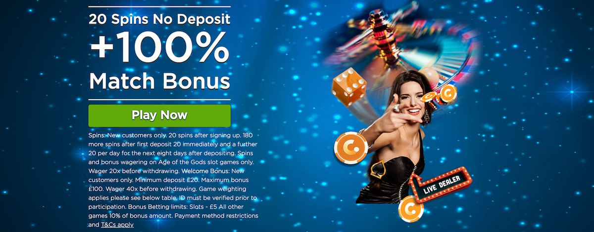 CasinoCom UK Bonus 20 Free Spins No Deposit