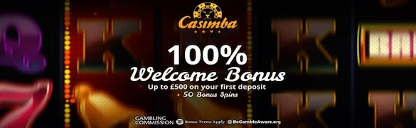 Casimba Welcome Bonus UK